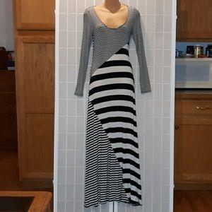 Ella Moss Black & White Stripe Sexy Maxi Dress XS
